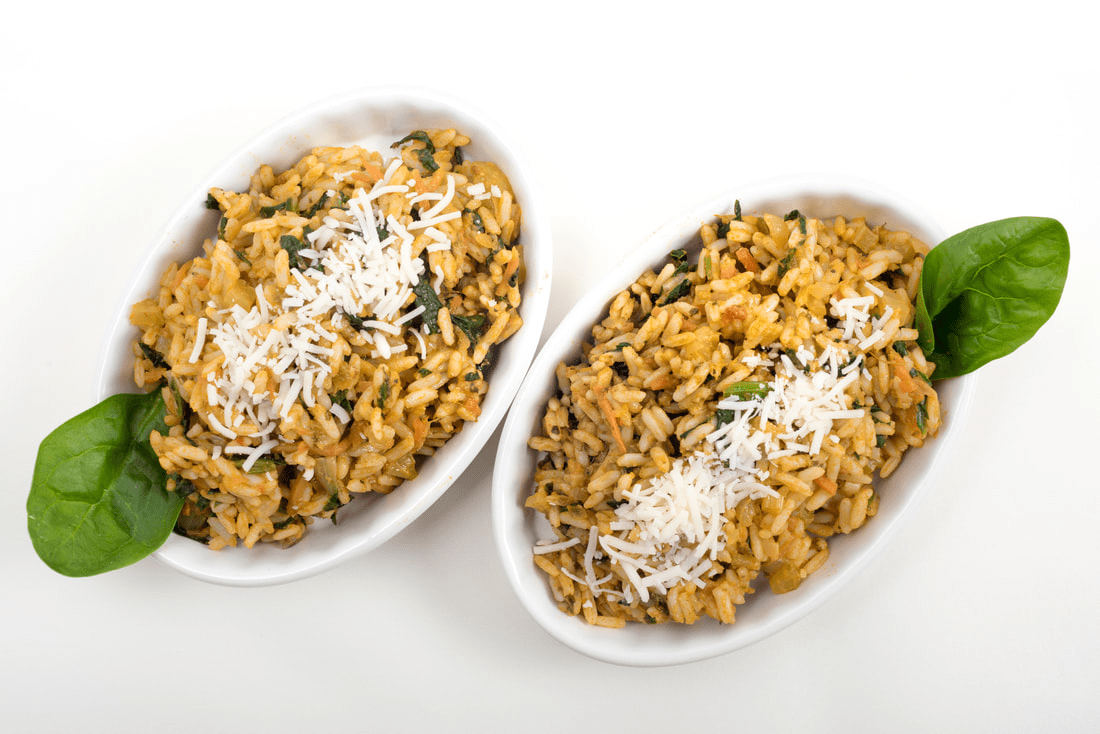 SUNSHINE SPINACH RICE PILAF