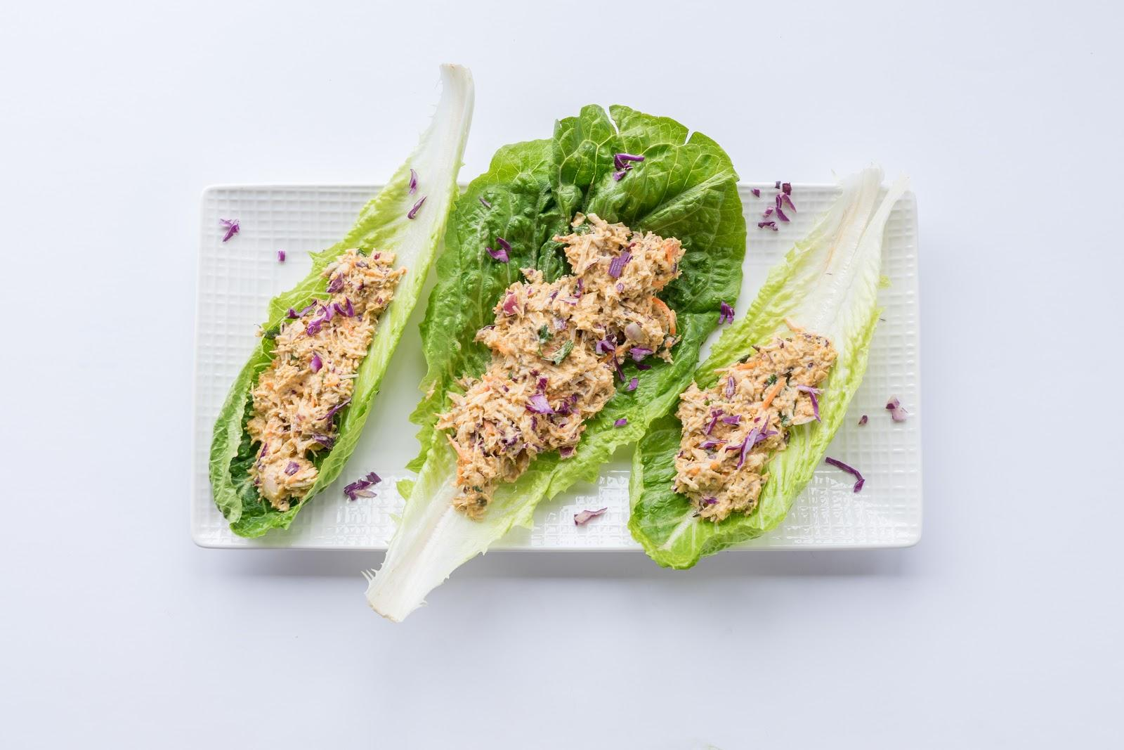 SUNSHINE CHICKEN SALAD LETTUCE WRAPS